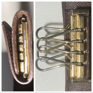 Louis Vuitton Accessories - LV 4 Key Damier Ebene Key Holder